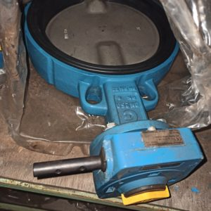 Butterfly valve with Opperman Mastergear DN250 PN6