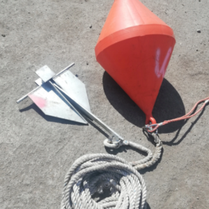 10kg Danforth anchor with rope and buoy