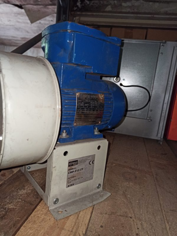 Sodeca blower CMP512-2T with Bartec Varnost motor 1